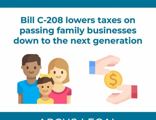 Tax Law Update – Bill C-208 lowers taxes on passing family businesses down to the next generation