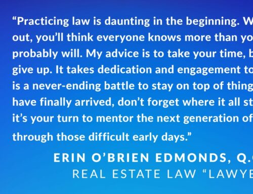 'Best Lawyers' features Erin O'Brien Edmonds' advice to new lawyers